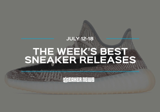"The Yeezy 350 ""Zyon"" And Air Jordan 1 Low Quai 54 Lead This Week's Best Sneaker Releases"