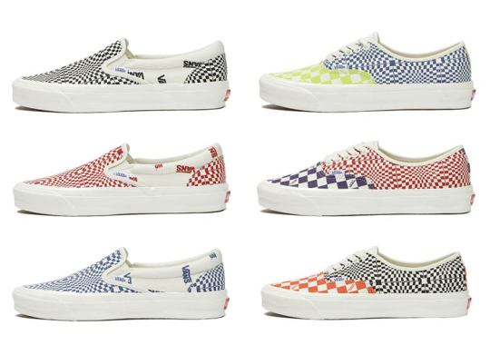 Vans Warps The Checkerboard For This Intense Pack Of Slip-Ons And Authentics