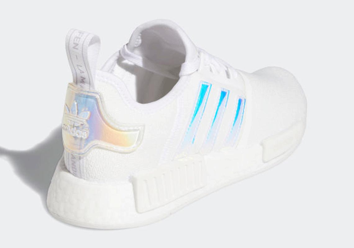 adidas NMD R1 White Iridescent Women's FY1263   SneakerNews.com