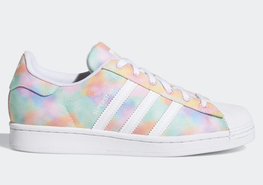 Pastel Tie-Dye Uppers Appear On The adidas Superstar