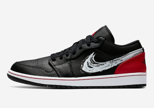 "Air Jordan 1 Low Gets A ""Brushstroke"" Swoosh"
