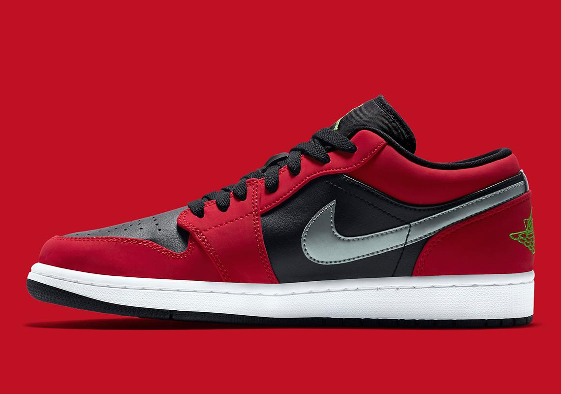 Air Jordan 1 Low Gym Red Black 553558 036 Sneakernews Com