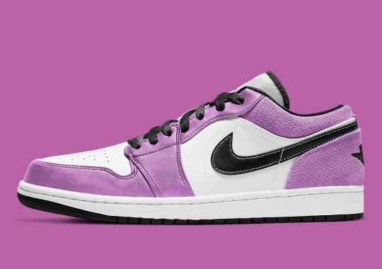 The Air Jordan 1 Low SE Covered In Light Purple Suede Overlays