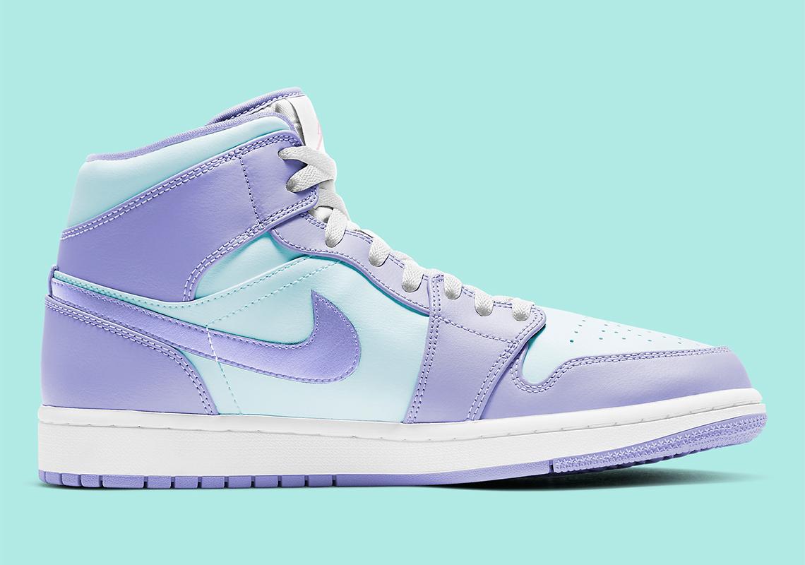 Air Jordan 1 Mid Purple Aqua 554724-500