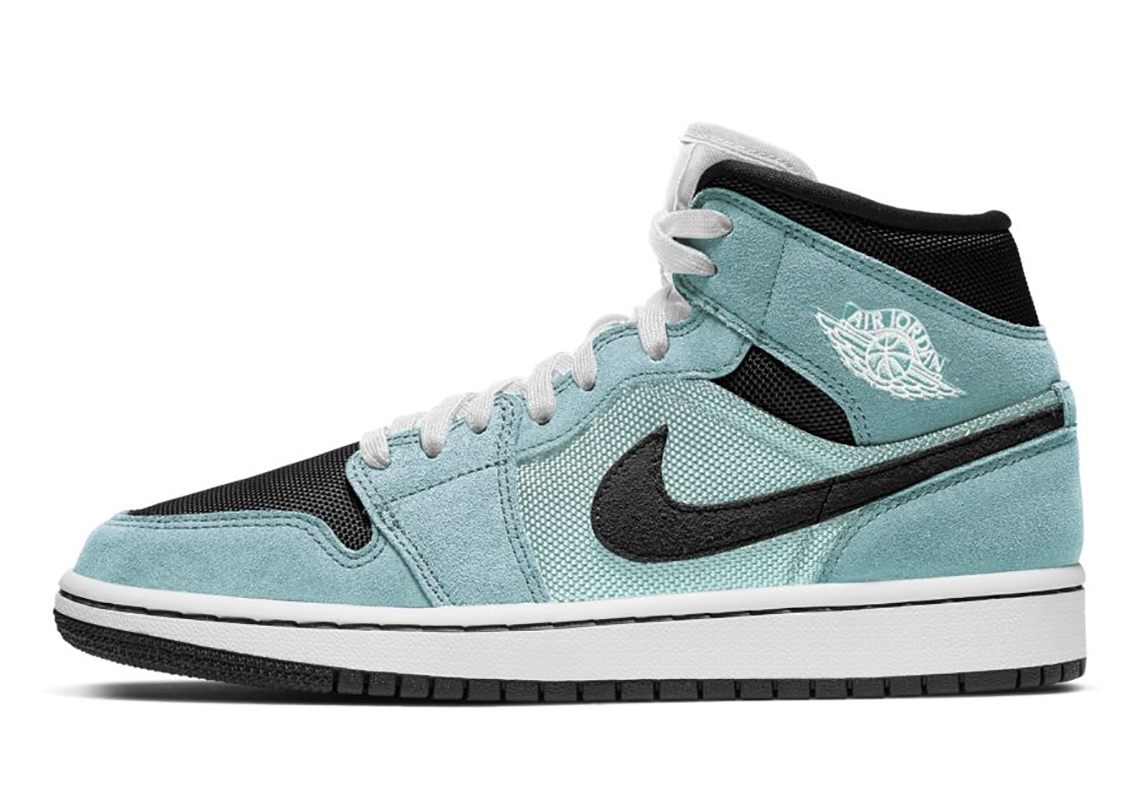 The Air Jordan 1 Mid For Women Gets Spruced Up With An Aqua Blue Tint