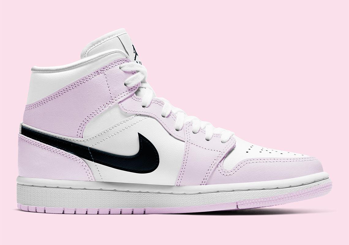 Air Jordan 1 Mid Pink Black BQ6472-500