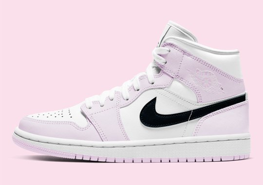 The Air Jordan 1 Mid For Women Gets A Soft Pink Tint