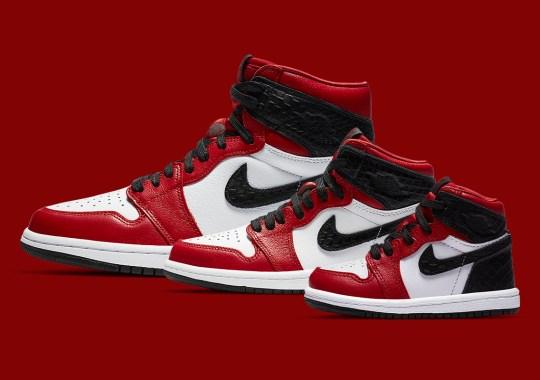 """Air Jordan 1 Retro High OG """"Satin Red"""" Arriving In Full Family Sizes"""