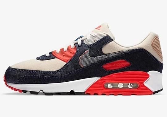 "Denham Gives The Nike Air Max 90 ""Infrared"" A Trademark Update"