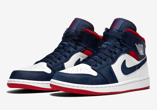 Air Jordan 1 Mid SE Gets A Red, White, And Blue Color Theme
