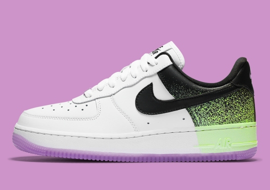 Air Tech Challenge-Inspired Splatter Appear On This Nike Air Force 1