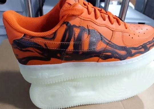 "Nike Is Unleashing An Orange Air Force 1 Low ""Skeleton"" For Halloween"