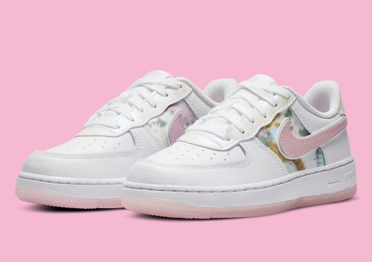 Soft Floral Prints Appear On This Nike Air Force 1 Low For Girls