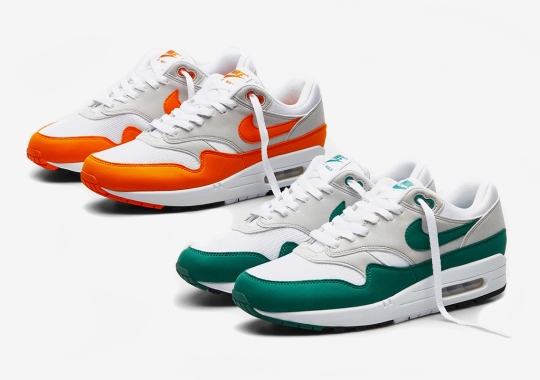 "The Nike Air Max 1 ""Evergreen"" And ""Magma Orange"" Releases Tomorrow"
