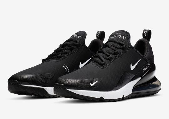 The Nike Air Max 270 Golf Offered In Simple Black And White