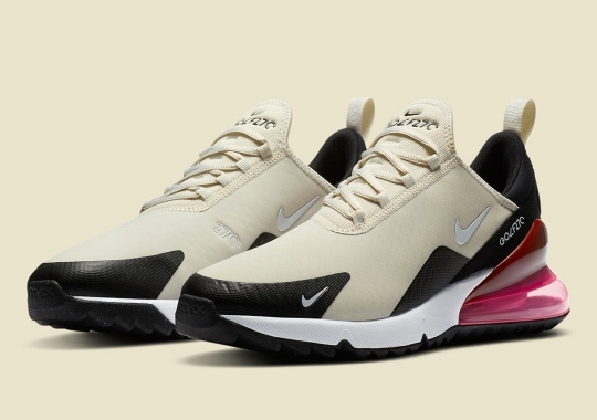"""The Newly Launched Nike Air Max 270 Golf Shoe Drops In """"Light Bone"""""""