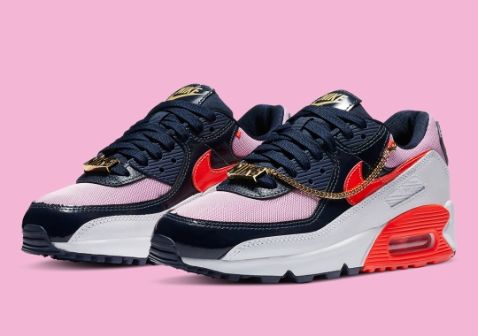 """Nike Women's """"Cuban Link"""" Pack Extends With Patent Leather Air Max 90s"""
