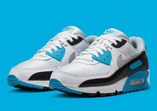 "The Nike Air Max 90 ""Laser Blue"" Releases On August 1st"