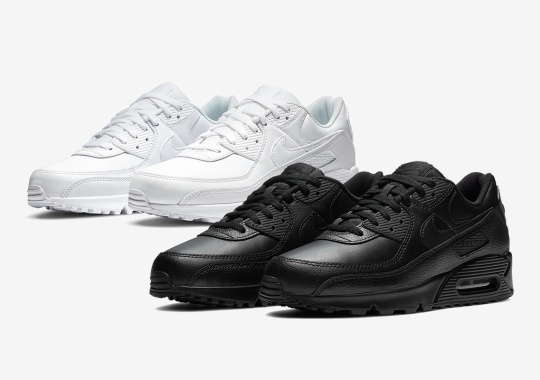 The Nike Air Max 90 Just Dropped In Nurse-Friendly Triple White And Triple Black