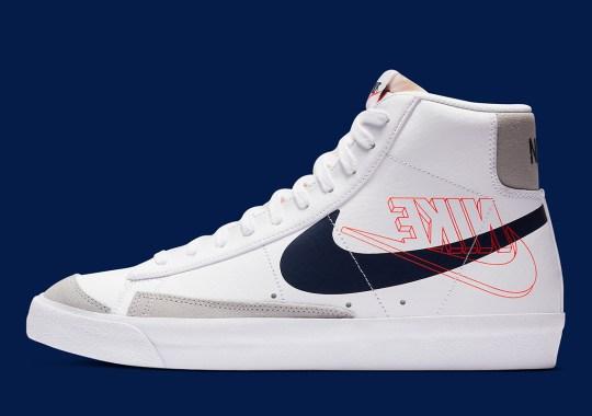 The Backwards Logo Returns On The Nike Blazer Mid '77 In White