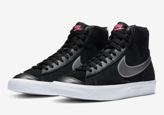 Brushed Matte Silver Swooshes Appear On This Nike Blazer Mid '77 For Women