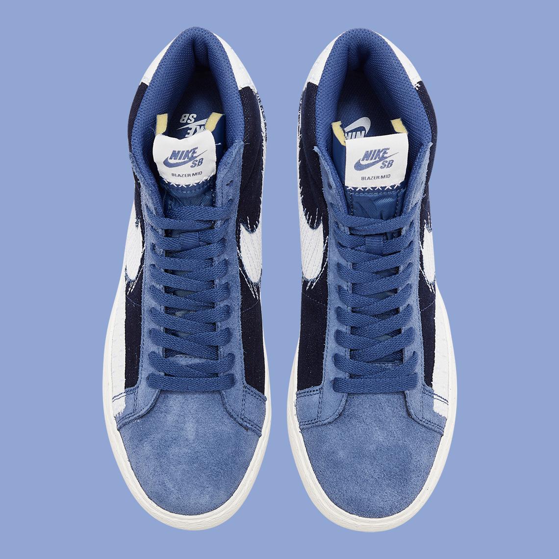 Nike SB Blazer Mid Mystic Navy Sail CT0715-400   SneakerNews.com