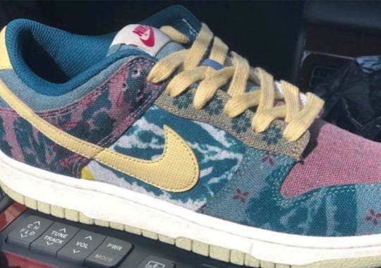 Upcoming Nike Dunk Low SP Covered In Diverse, Multi-colored Tapestry