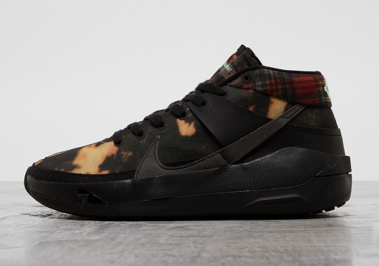 This Lifestyle Friendly Nike KD 13 Is Covered In Bleached Fabric And Plaid