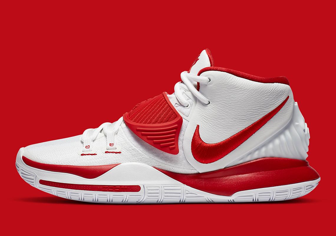 Nike Kyrie 6 White University Red CZ4938-100 | SneakerNews.com