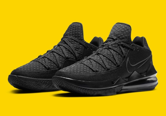 The Nike LeBron 17 Low Gets A Triple Black Treatment