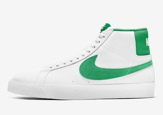 Nike SB Blazer Mid Gets A Green Suede Swoosh