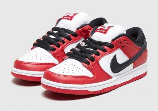 "Nike SB Dunk Low Continues The J-Pack Series With ""Chicago"" Colorway"
