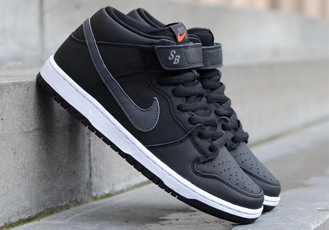 Nike SB Orange Label Black Leather