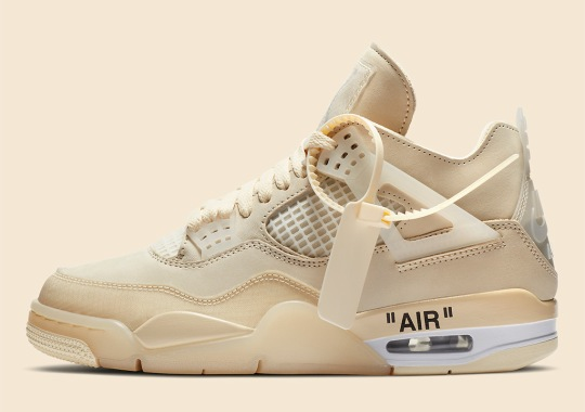 "Official Images Of The Off-White x Air Jordan 4 WMNS ""Sail"""