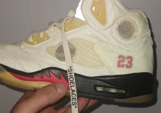 "First Look At The Off-White x Air Jordan 5 ""Sail"""