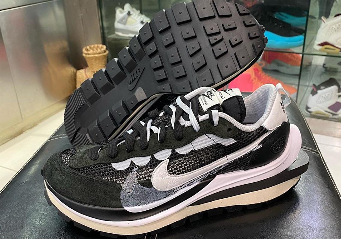 sacai Nike Vapr Waffle Black White CV1363-001   SneakerNews.com