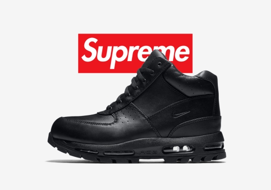 Supreme Is Giving The Nike Air Max Goadome Boot A Spin This Winter