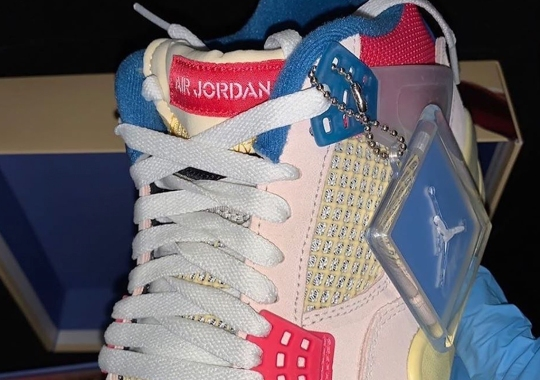 """First Look At The UNION LA x Air Jordan 4 """"Guava Ice"""""""