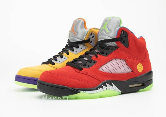 """The """"What The"""" Air Jordan 5 Combines Tokyo 23, Raging Bull, And More Celebrated Colorways"""