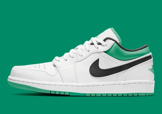 The Air Jordan 1 Low Appears In A Boston Celtics-Friendly Colorway