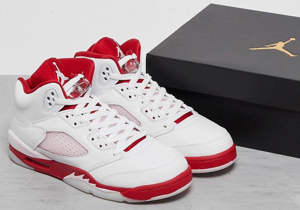 Air Jordan 5 Kids White Pink Foam