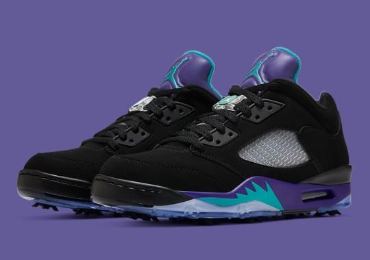 """The Air Jordan 5 Golf """"Black Grape"""" Releases On September 4th"""