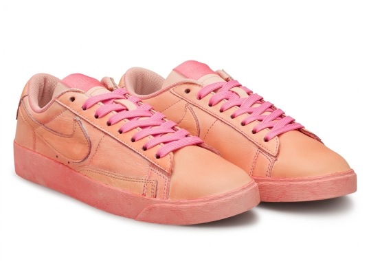 CDG Girl Airbrushes The Nike Blazer Low In Pink