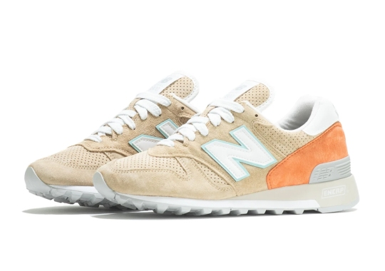The New Balance 1300 Appears In Tan And Orange Mix