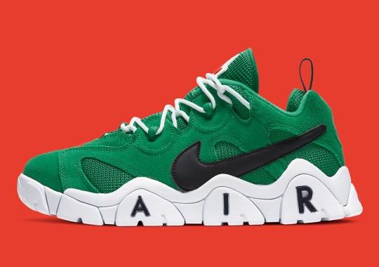"""The Nike Air Barrage Low Gets A """"Heineken"""" Colorway"""