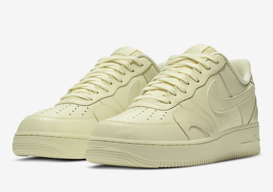 Nike Dresses Up Their Misplaced Swoosh Air Force 1 With A Butter Cream Colorway