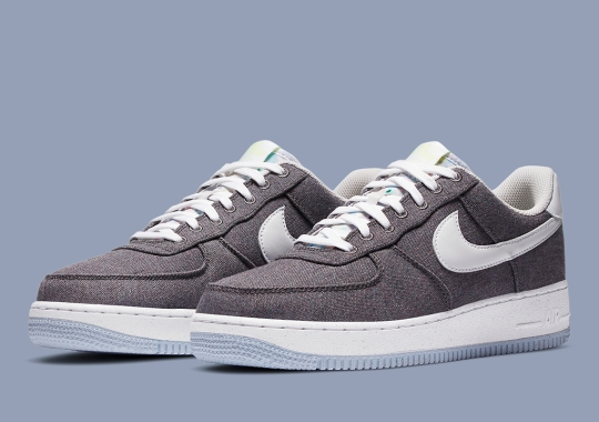 "Recycled Fabrics Dress Up The Nike Air Force 1 ""Iron Grey"""