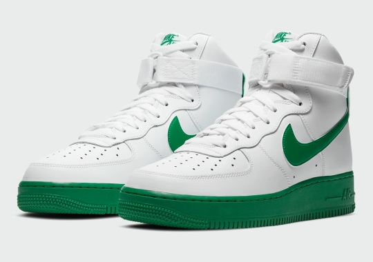 The Nike Air Force 1 High Gets A Solid Green Sole