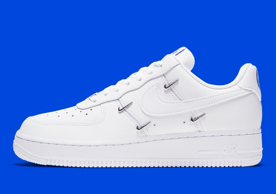 The Nike Air Force 1 LX Adds Mini Metallic Swooshes To Its Mid-Panel