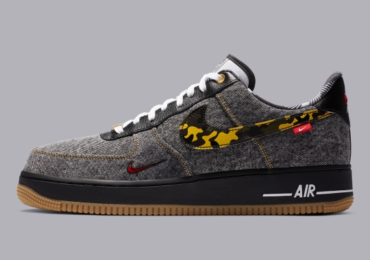 """Official Images Of The Nike Air Force 1 Low """"Remix Pack"""" In Black Denim"""